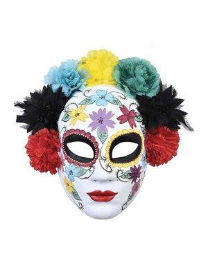 Day of the Dead Coloured Sugar Skull Face Masquerade Mask