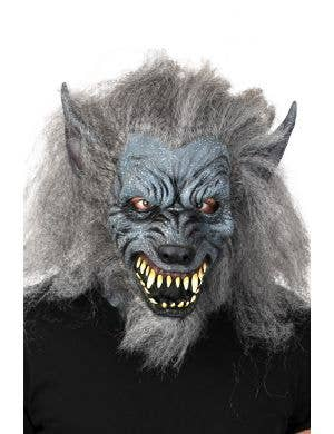 Scary Werewolf Full Face Latex Costume Mask Main Image