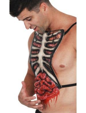 Bloody Ribs Zombie Latex Chest Piece