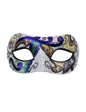 Florence Coloured Antique Crackle Masquerade Mask