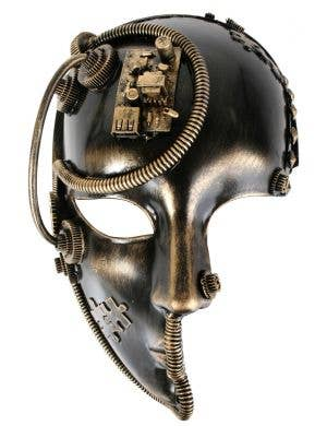 3/4 Face Bronze Steampunk Fancy Dress Costume Mask