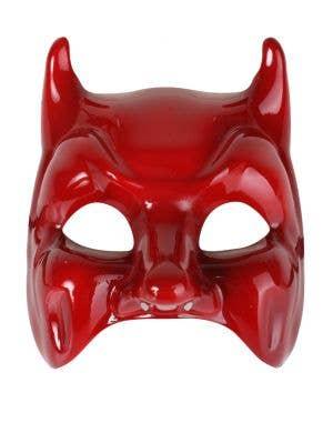 Glossy Red Devil Fancy Dress Masquerade Mask