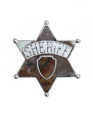 Giant Silver Cowboy Sheriff Costume Badge