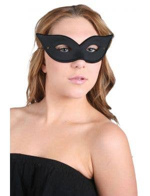 Black Cat Eye Women's Masquerade Costume Mask Accessory