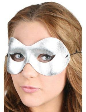 Cat Eye Silver Women's Masquerade Mask
