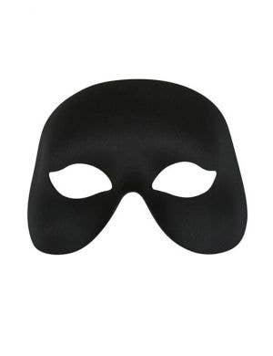 Simple Black Adult's Unisex Masquerade Eye Mask