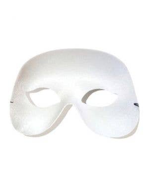Simple White Adult's Unisex Masquerade Eye Mask