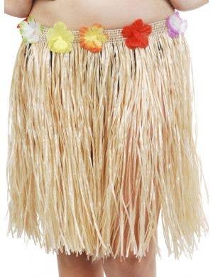 Hawaiian Straw Coloured Short Hula Skirt