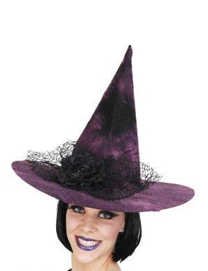Purple and Black Mottled Witch Hat