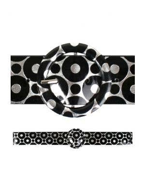 60's Mod Black and Silver Costume Belt