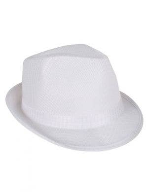 1920's White Gangster Fedora Hat
