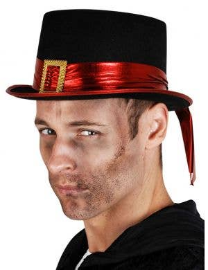 Gothic Red and Black Halloween Top Hat