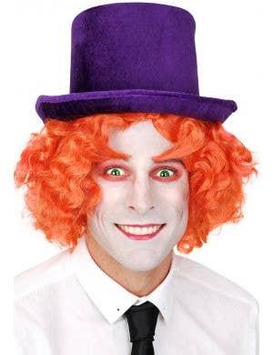 Purple Velvet Adult's Costume Top Hat Accessory