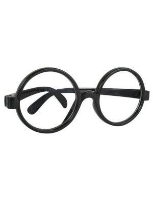 Nerdy Black Rimmed Glasses Costume Accessory