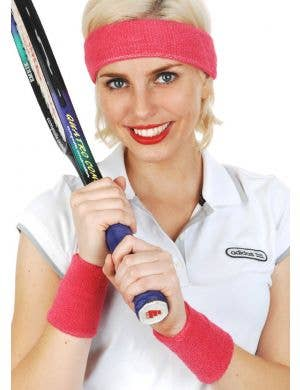 Tennis Player Hot Pink Sweatbands Costume Accessory