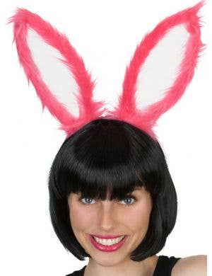 Fluffy Hot Pink Bunny Ears
