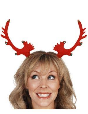 Christmas Reindeer Headband with Bells