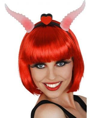Red Light Up Ram Horns Devil Costume Accessory