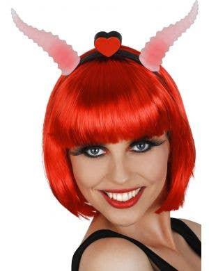 Red Light Up Ram Horns Devil Costume Accessory