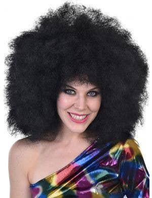Mega Huge Women's Curly Black 1970's Afro Wig