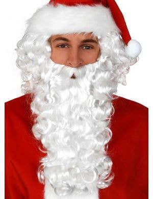 Curly White Santa Beard and Wig Set
