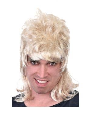 Dazza Men's Blonde Bogan Mullet Costume Wig