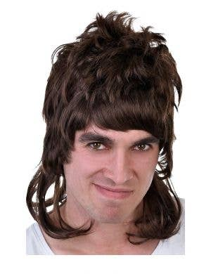 Dazza Men's Brown Bogan Mullet Costume Wig