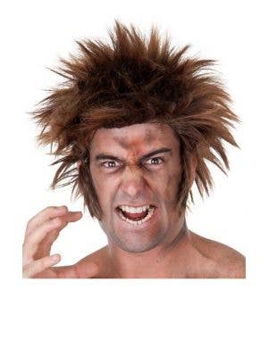 Werewolf Adult's Halloween Costume Wig with Side Burns