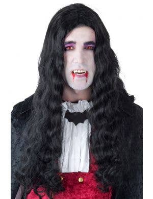 Gothic Vampire Men's Long Black Costume Wig