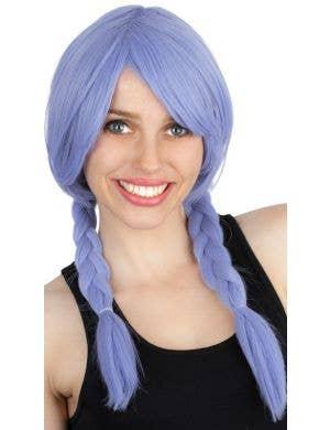 Miranda Lilac Purple Women's Side Plaits Costume Wig