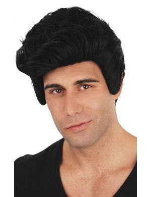 Men's Grease Danny Short Black Costume Wig