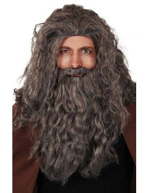 Long Grey Gandalf Wizard Wig And Beard Costume Accessory