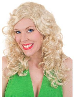 Long Blonde Curly Women's Jewel Costume Wig