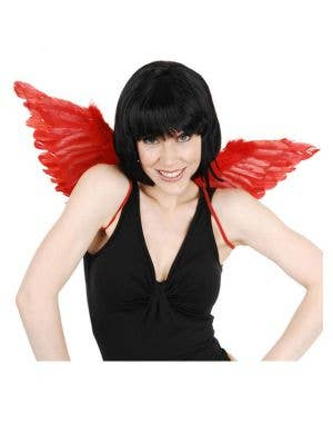 Red Feather Mini Devil Costume Wings