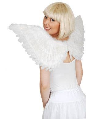 White Angel Feather Wings Costume Accessory Main Image