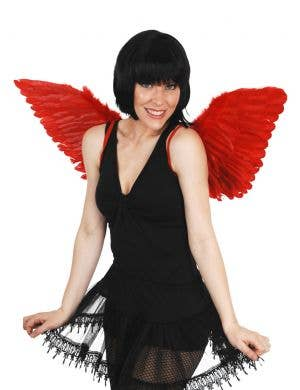 Large Red Feather Costume Accessory Wings