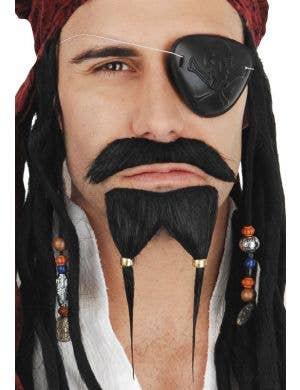 Captain Jack Pirate Beard and Moustache Set