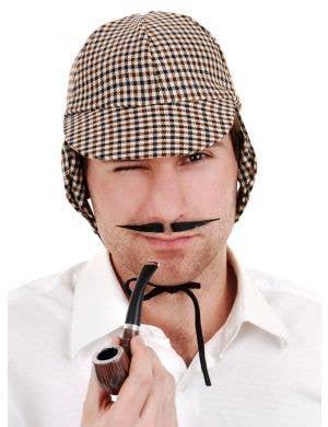 Men's English Inspector Thing Black Costume Moustache
