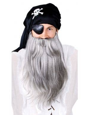 Men's Long Grey Bushy Pirate Costume Beard