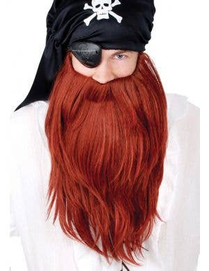 Men's Ginger Long Red Pirate Costume Beard