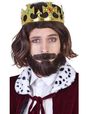Royal Richard Men's Wig, Beard and Moustache Costume Accessory Set