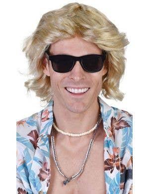 Surfer Dude Men's Mick Blonde Costume Wig
