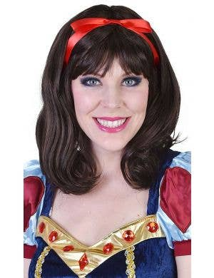 Fairytale Snow White Women's Deluxe Brown Costume Wig