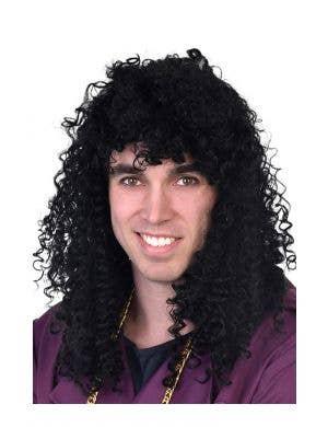 1980's Men's Rick James Black Curly Costume Wig