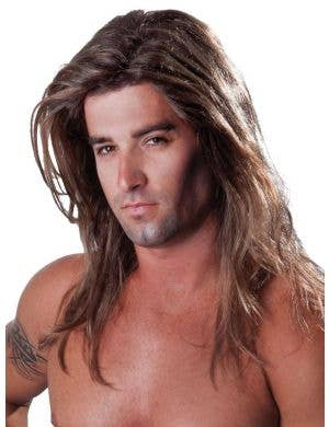 Men's Long Sexy Fabio Blonde Costume Wig