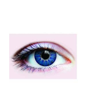 Odd Shape Pupil Blue And Yellow Strange Contact Lenses By Primal