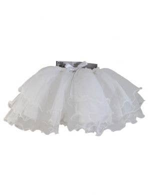 Ruffled Girls White Layered Mesh Tutu Skirt
