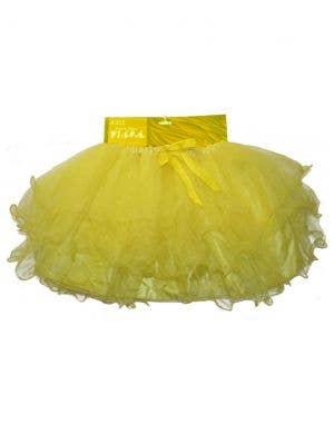 Ruffled Girls Bright Yellow Layered Mesh Tutu Skirt