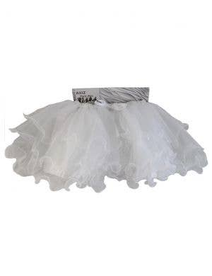 Fluffy White Ruffled Mesh Women's Tutu Skirt