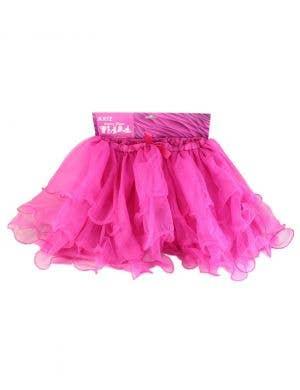 Fluffy Hot Pink Ruffled Mesh Women's Tutu Skirt
